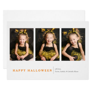 Tarjeta Halloween moderno