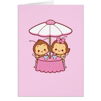Tarjeta Hana y Hachi - helado