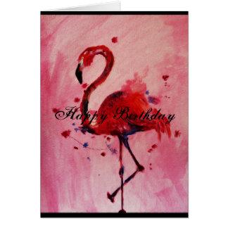 Tarjeta Happy Birthday - flamenco postal/greeting card