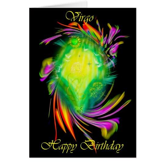 Tarjeta Happy Birthday Virgo - virgen