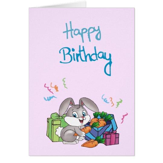 Tarjeta Happy Bithday - Rabbit