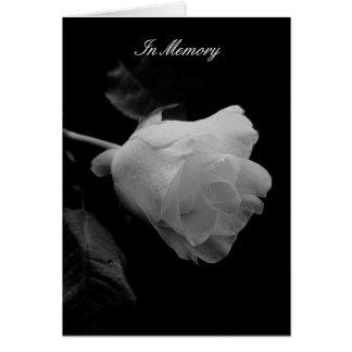 """Tarjeta """"Hasta"""" condolencia del rosa blanco"""
