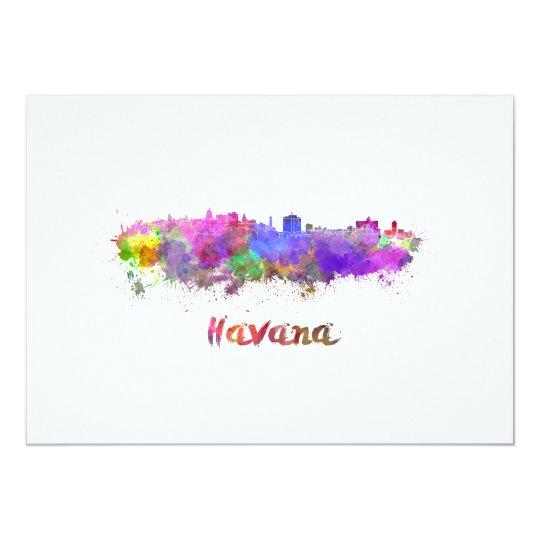 Tarjeta Havana skyline in watercolor