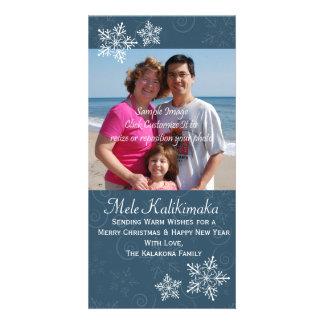Tarjeta hawaiana de la foto del copo de nieve del  tarjeta fotografica
