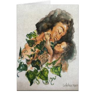 Tarjeta hawaiana del día de madres