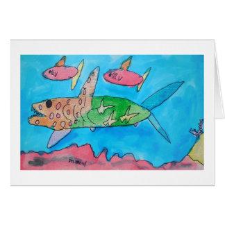 Tarjeta Hawaiana del tiburón