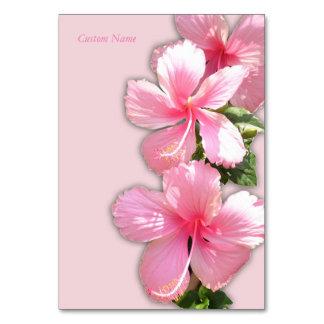 Tarjeta hawaiana hermosa de la tabla del hibisco