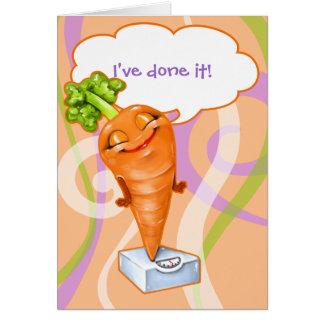 Tarjeta ¡He alcanzado mi meta de la pérdida de peso!