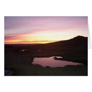 Tarjeta Helada de la mañana de Dartmoor