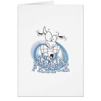 Tarjeta Helada del cerebro con la vaca