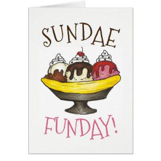 Tarjeta Helado domingo Funday del Shoppe del helado de la