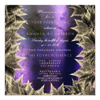 Tarjeta Helecho púrpura de la hoja de la planta del