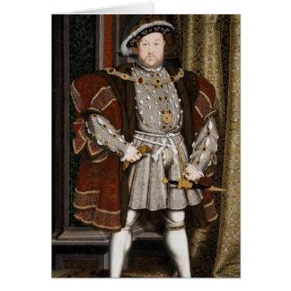 Tarjeta Henry el octavo retrato