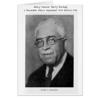 "Tarjeta Henry Thacker ""Harry"" Burleigh"