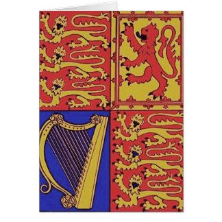Tarjeta Heráldica con la arpa y el león