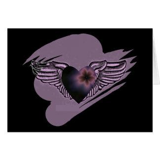 Tarjeta Hermanas coas alas Notecard del corazón