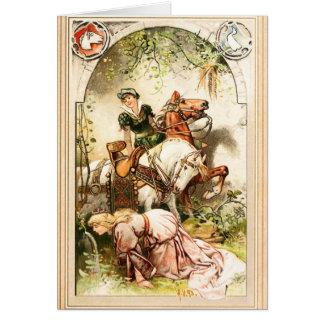 Tarjeta Hermann Vogel - el chica del ganso