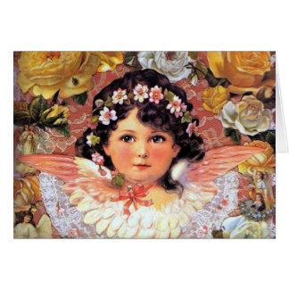 Tarjeta hermosa del niño del ángel