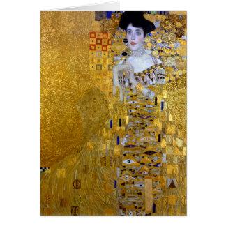 Tarjeta Hermoso la mujer en el oro Gustavo Klimt