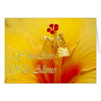 Tarjeta Hibisco amarillo no solamente