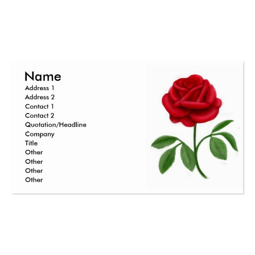 Tarjeta híbrida del perfil del rosa de té tarjetas de visita