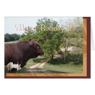 Tarjeta Hijo-personalizar del feliz cumpleaños