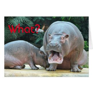 Tarjeta Hipopótamo de la sorpresa