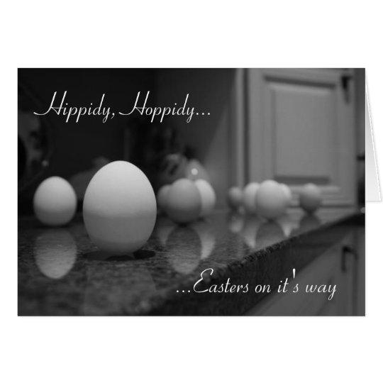 Tarjeta Hippidy, Hoppidy…,… Easters en él es…
