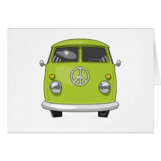 Tarjeta Hippie 1960 Van