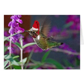 Tarjeta Ho Ho Ho colibrí