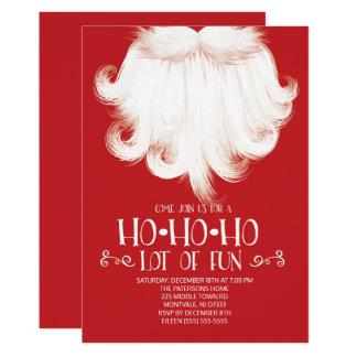 Tarjeta HO HO HO porciones de fiesta de Navidad de Santa