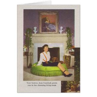 Tarjeta Hogar 1944 de Joan Crawford Brentwood