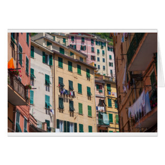 Tarjeta Hogares coloridos en Cinque Terre Italia