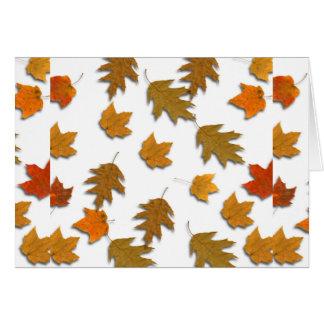 Tarjeta Hojas de arce del otoño