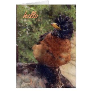 Tarjeta Hola allí amigo (tarjeta de nota en blanco)