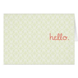 Tarjeta hola. es yo