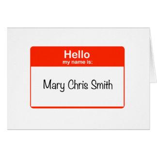 Tarjeta Hola Maria Chris Smith