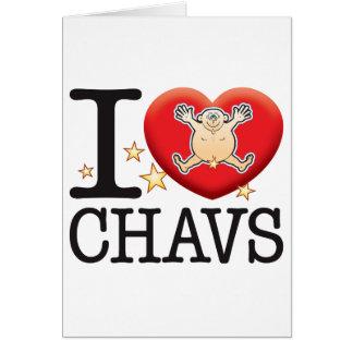 Tarjeta Hombre del amor de Chavs