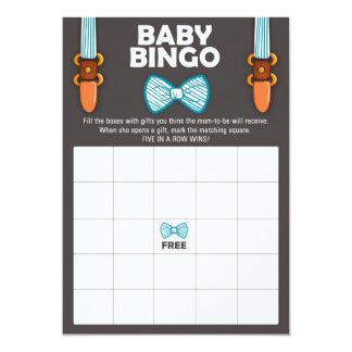 Tarjeta Hombre del bebé de la pajarita del bingo de la