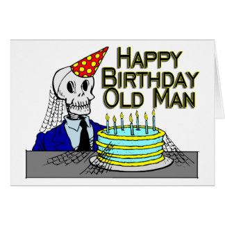 Tarjeta Hombre del Web de araña del feliz cumpleaños viejo