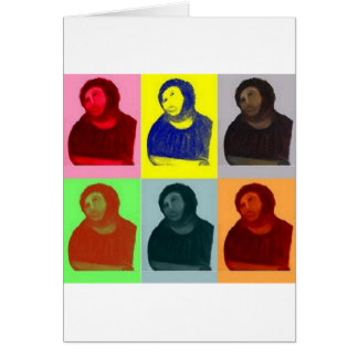 Tarjeta Homo de Ecce - estilo del arte pop