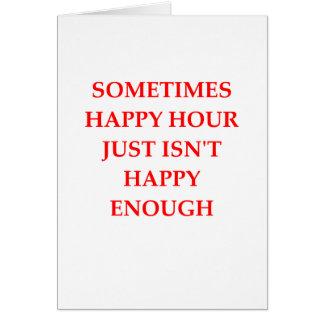 Tarjeta hora feliz