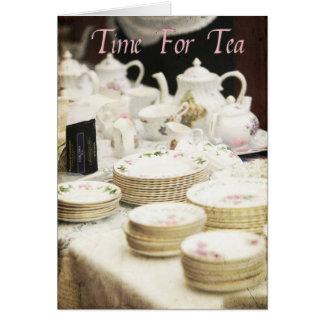 Tarjeta Hora para el té #2