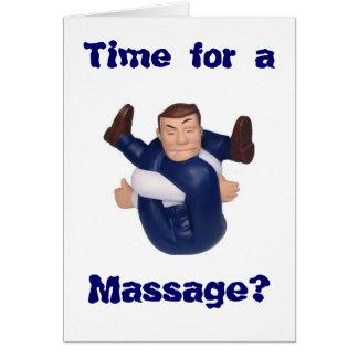 Tarjeta ¿Hora para un masaje? esconda el interior I n…