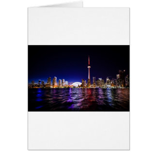 Tarjeta Horizonte de la noche de Toronto