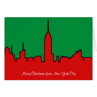 Tarjeta Horizonte de NYC: Silueta del navidad del ESB