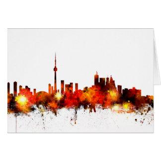 Tarjeta Horizonte de Toronto Canadá