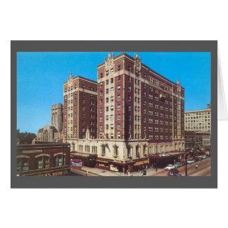 Tarjeta Hotel Gary, Indiana (los años 50) del vintage