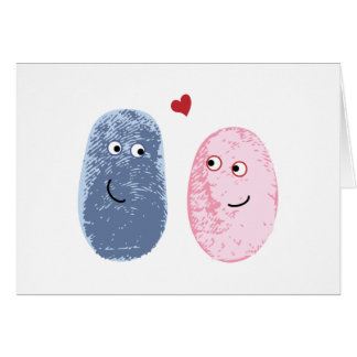 Tarjeta Huellas dactilares en amor