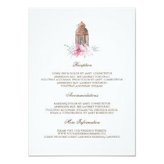 Tarjeta Huésped de la información del boda de la linterna